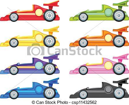 Clip Art Vector of racing car.