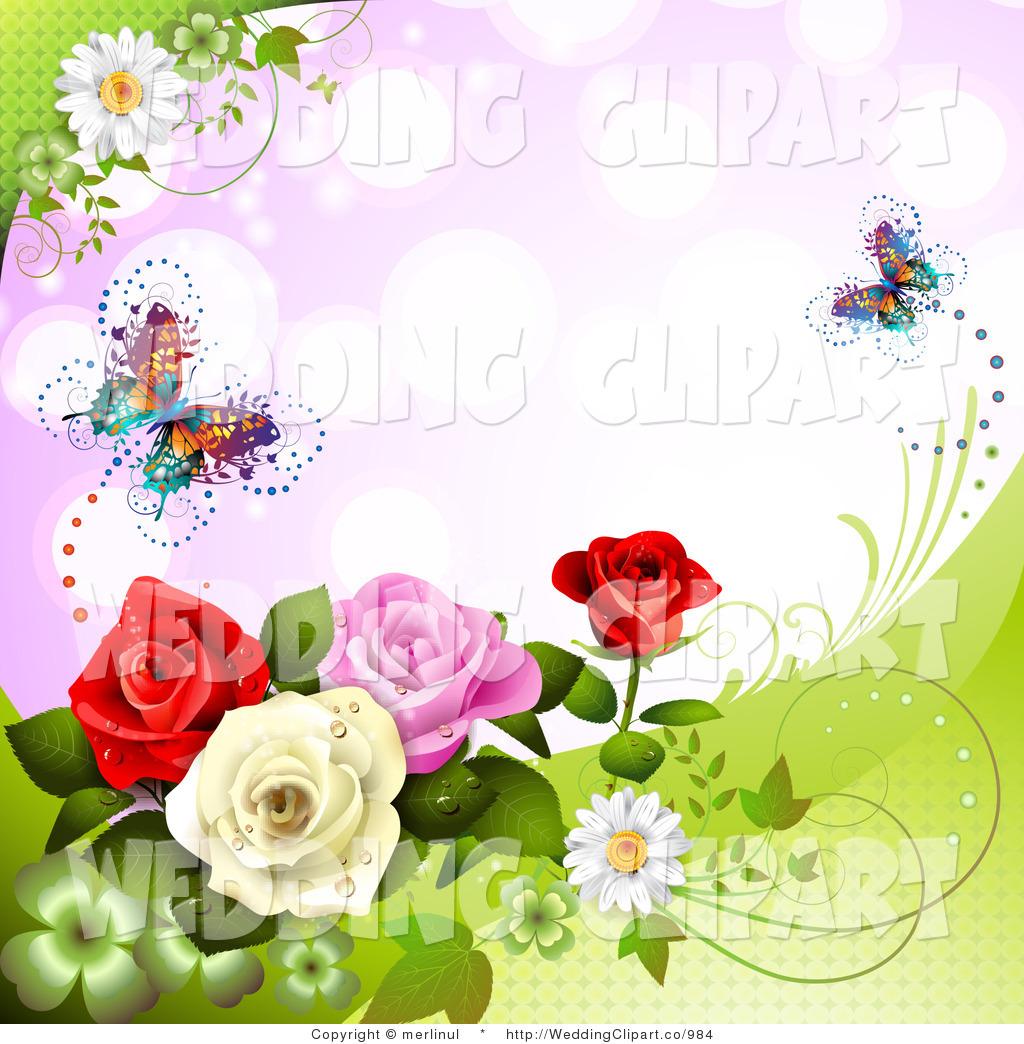 Royalty Free Rose Garden Stock Wedding Designs.