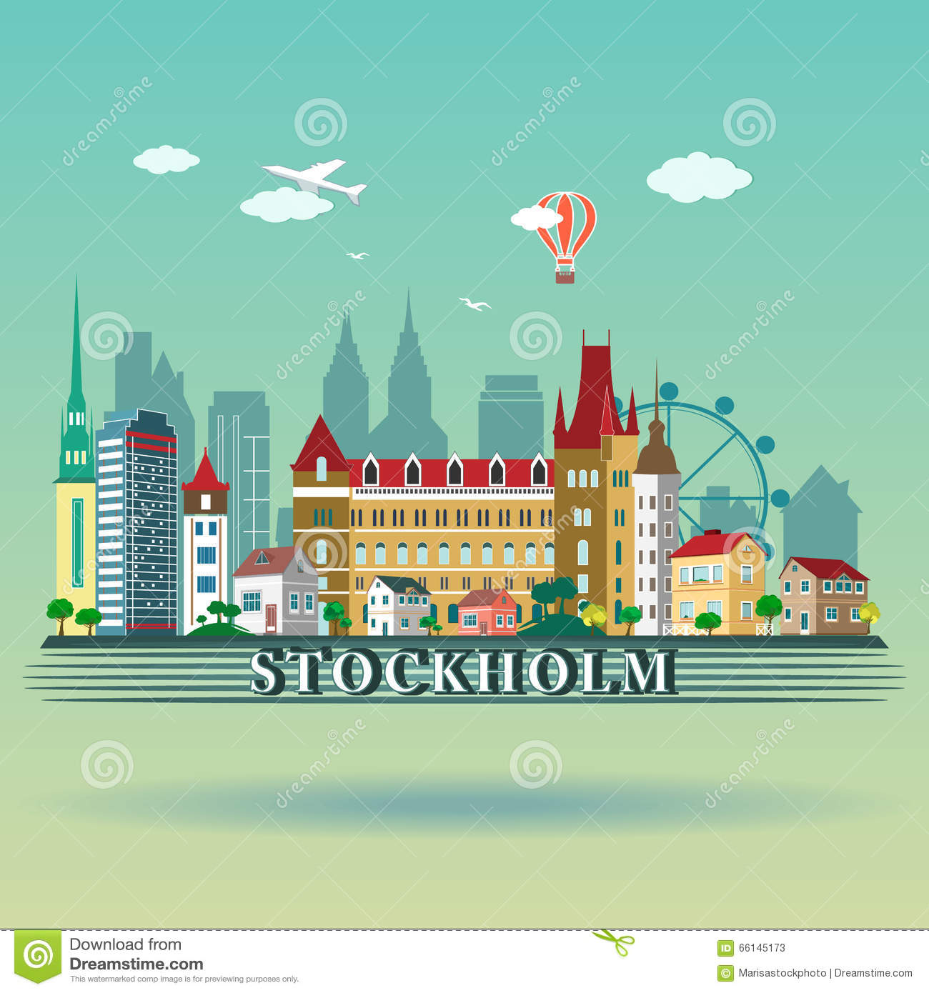 Stockholm Stock Illustrations.