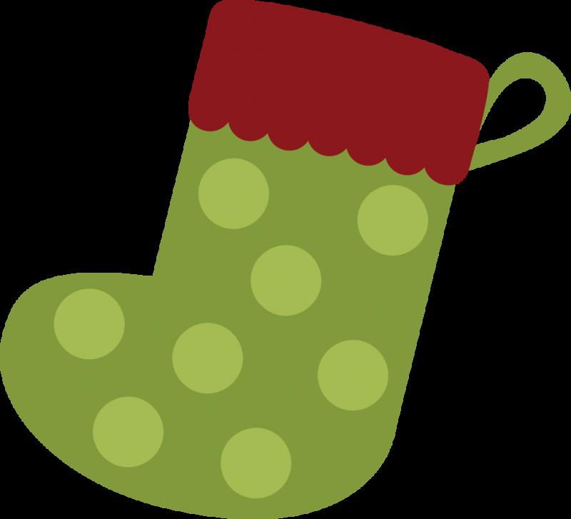 Printable Christmas Stocking Clipart.