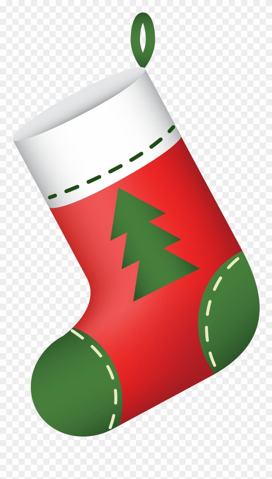 Transparent Christmas Stocking Clipart.