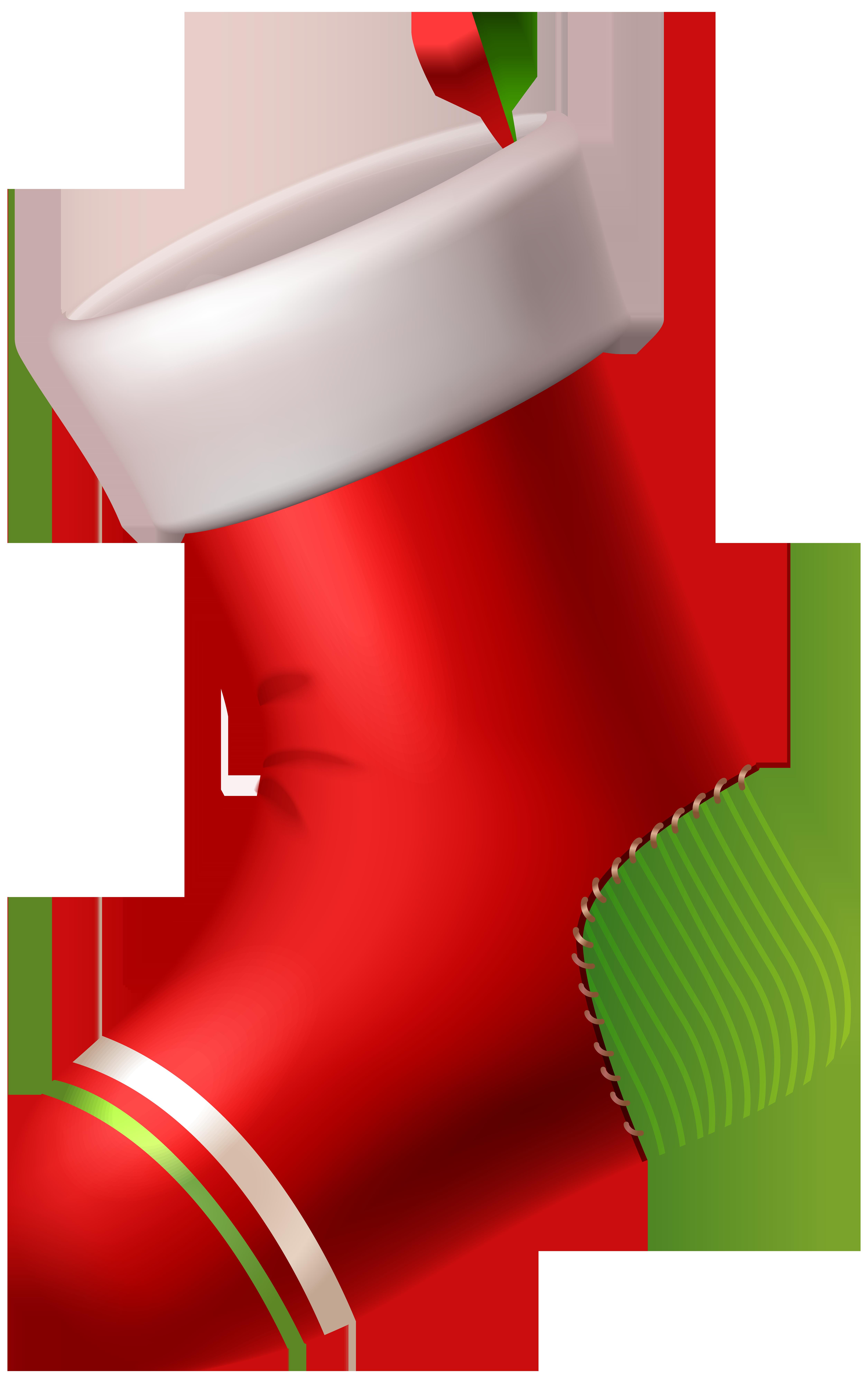 Santa Claus Christmas stocking Candy cane Clip art.