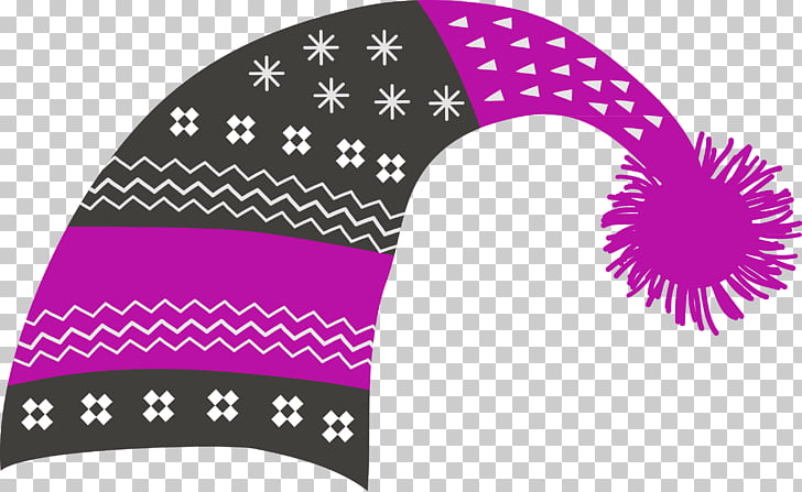 Hat Knit cap Stocking , purple winter hat PNG clipart.