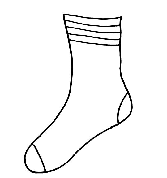 14 Sock Template Printable Images.