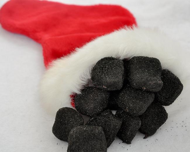 Stocking Full Of Coal Clipart.