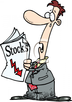 Investor Worried and Crying Over Dropping Stocks and Stock Market.