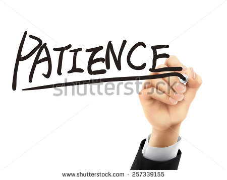 Patience Word Written By Hand On Stock Illustration 257415370.