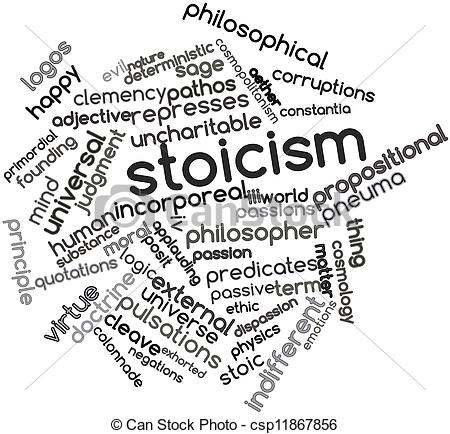 Stock Illustrations of Stoicism.