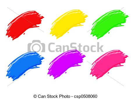 Paint Brush Stroke Clip Art.