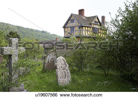 Stock Images of England, Shropshire, Stokesay, View across the.