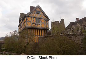 Picture of tudor historic buildings.