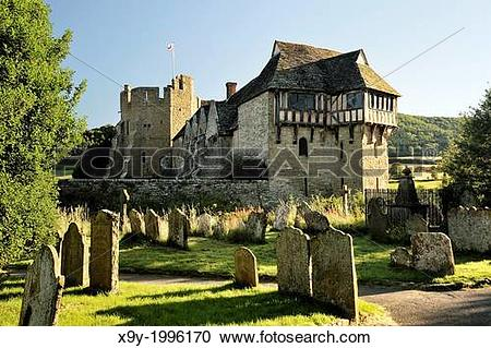 Stock Photography of 13C Stokesay Castle, Craven Arms, Shropshire.