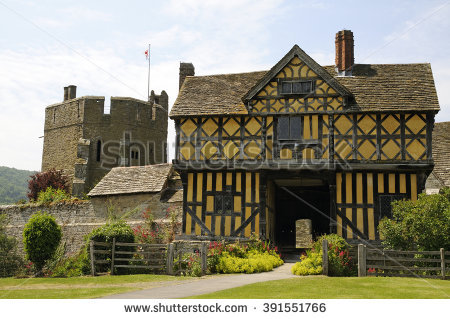 Stokesay Castle Stock Photos, Royalty.
