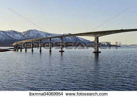 "Stock Photo of ""Bridge over the Langoysund in Stokmarknes, Island."