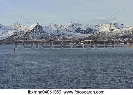 "Stock Photograph of ""Mountains of the island of Andoya with Andoy."