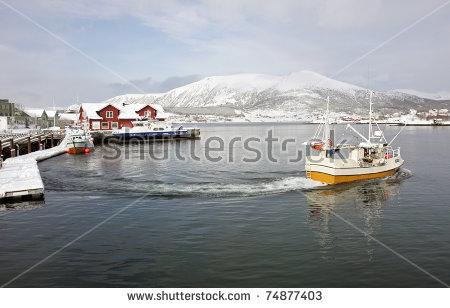 Fishing Boat Winter Stock Photos, Royalty.