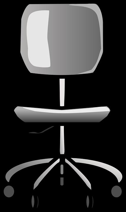 Gratis vektorgrafik: Stol, Kontor, Kontorstol, Kørestol.