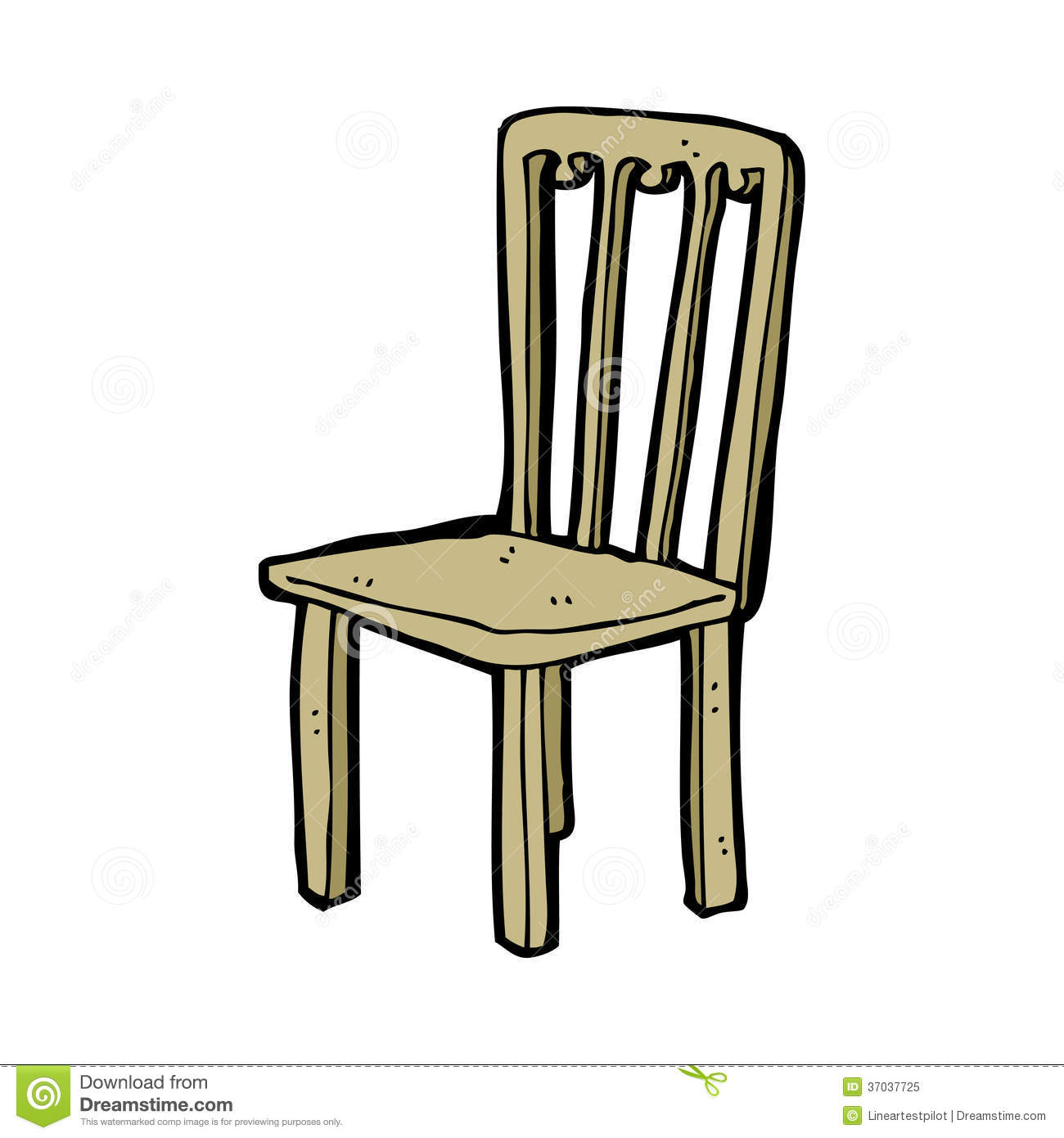 Cartoon Old Chair Royalty Free Stock Photo.