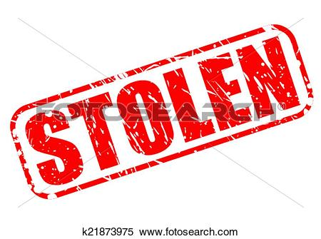 Clipart of Stolen red stamp text k21873975.