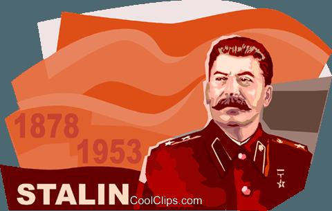 Joseph Stalin Royalty Free Vector Clip Art illustration.