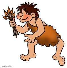 Stone Age Man Hunting Clipart.
