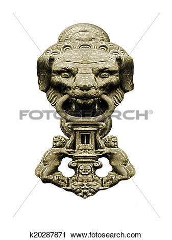 Stock Photography of Animal Face Stone Ornament k20287871.