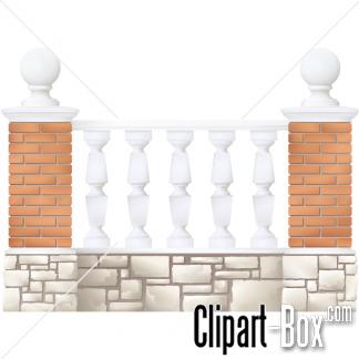 CLIPART STONE BALCONY.