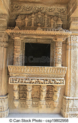 Stock Images of Ornate Stone Balcony.