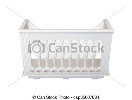 Stock Illustration of Balcony of stone isolated on white.