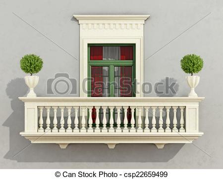 Stock Illustration of Classic facade.