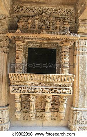 Pictures of Ornate Stone Balcony k19802958.