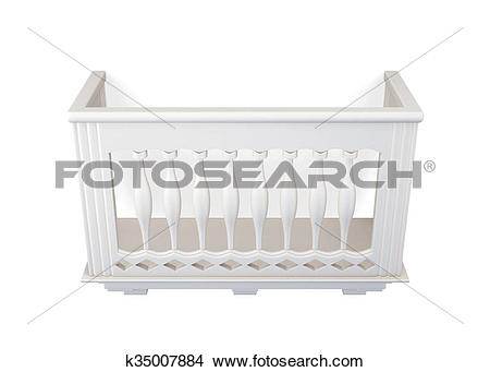 Drawings of Balcony of stone isolated on white background. 3d.