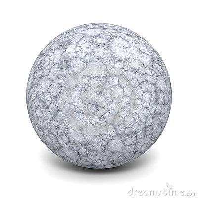 Round Concrete Stone Ball Stock Illustrations.