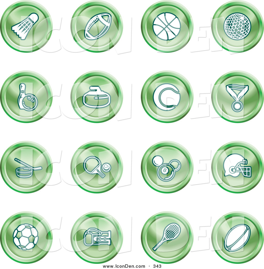 Royalty Free Stock Icon Designs of Curling Stones.