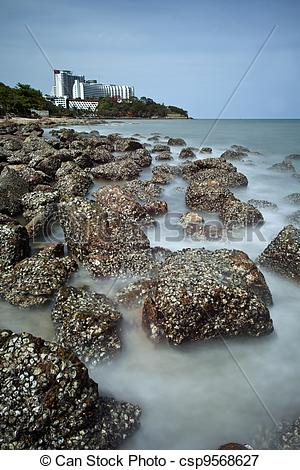 Picture of Stone beach in Pattaya.