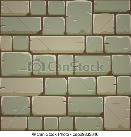 EPS Vector of Stone Block Wall.