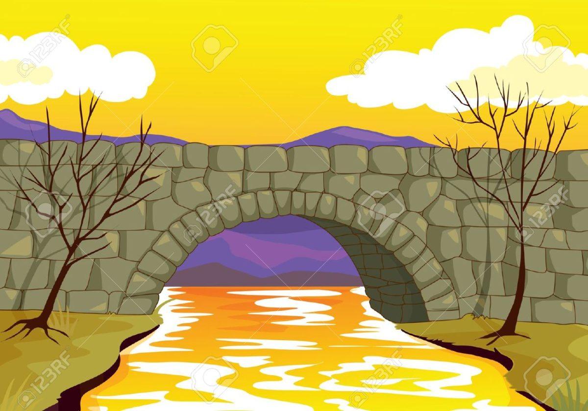 stone bridge clipart.