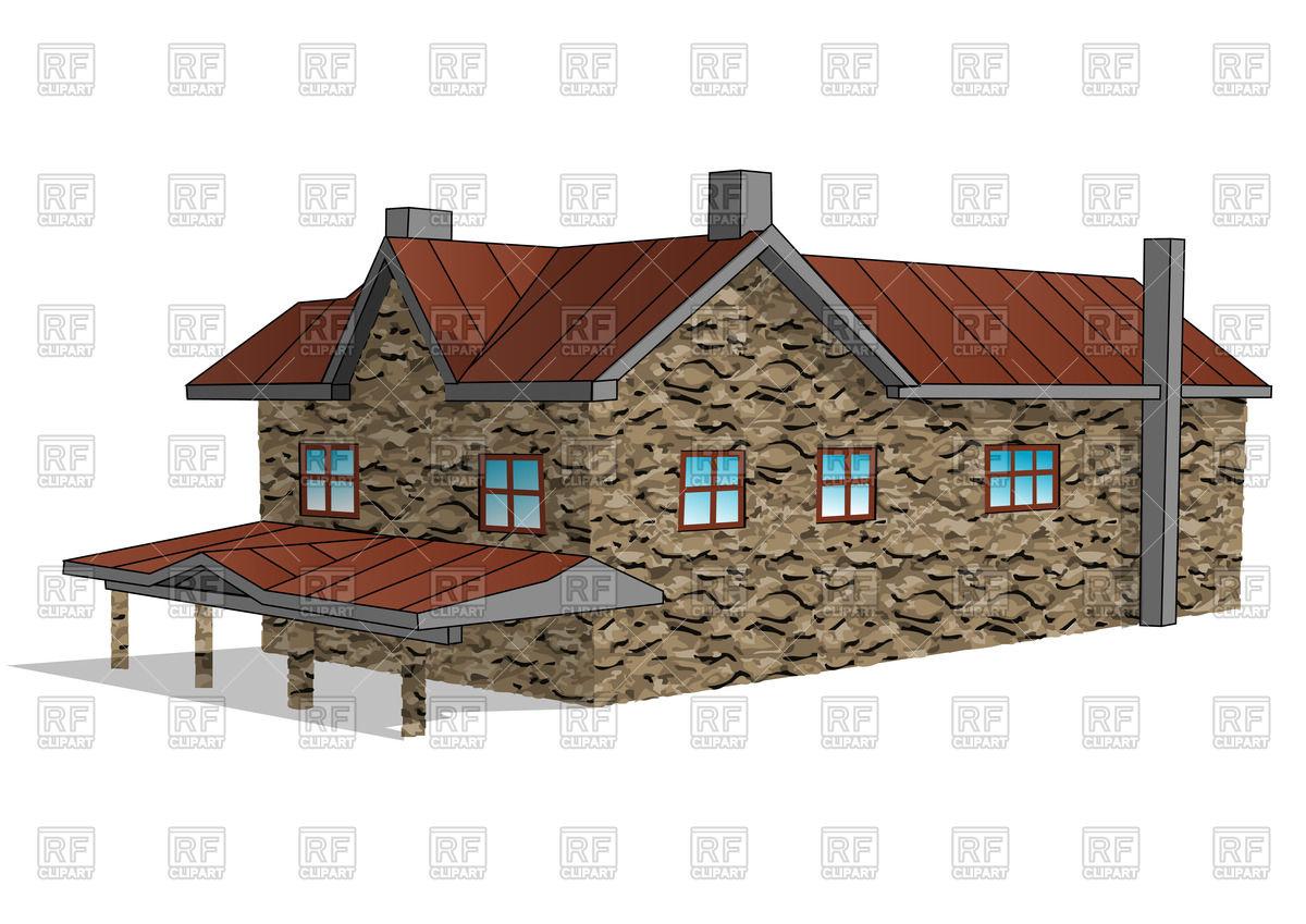 Stone farmhouse Vector Image #42625.