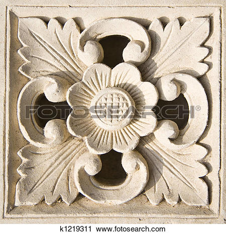 Stock Photography of Bali stone carving k1219311.