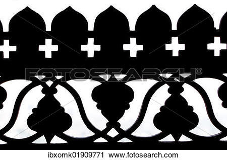 """Stock Photography of """"Stone carvings as silhouette, Palace of."""
