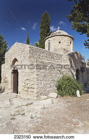 Stock Photography of An old stone church building;Paphos cyprus.