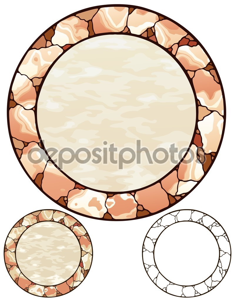 Stone circle border with variations — Stock Vector © Therealdarla.
