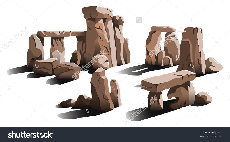 Ancient Stone Circle Place Magic Worship Stock Vector 90592756.