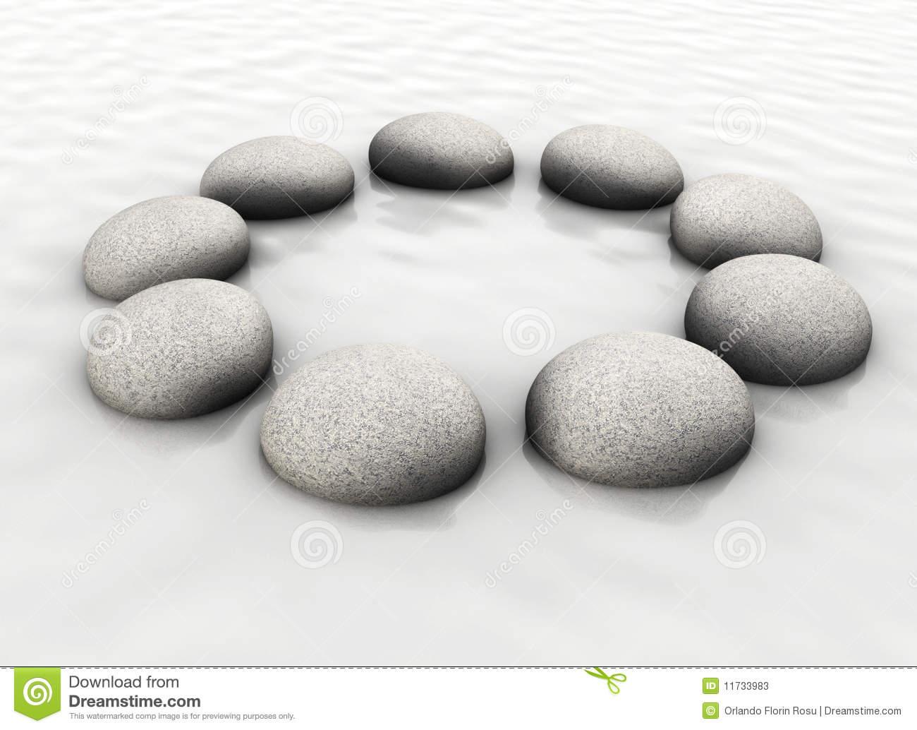 Stones In Circle Stock Photos.