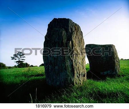 Stock Photograph of County Cork, Ireland, Drombeg Stone Circle.