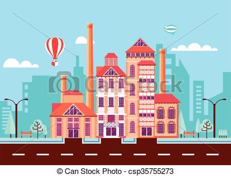 Vectors Illustration of beer factory 2.