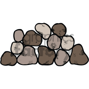 stone vector clipart . Royalty.