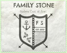 """Artistic Environments: Get Your Own """"Family Stone"""" Modern Coat of."""