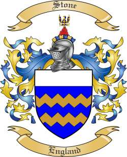 Stone Family Crest from England by The Tree Maker.