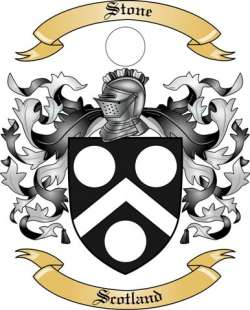 Stone Family Crest from Scotland by The Tree Maker.